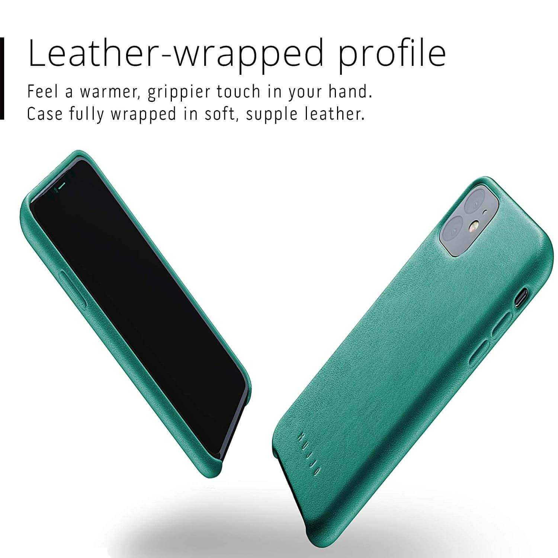 Mujjo Full Leather Case — кожен (естествена кожа) кейс за iPhone 11 (зелен) - 2