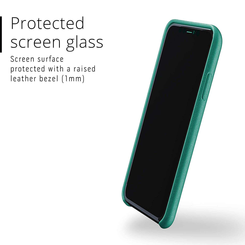Mujjo Full Leather Case — кожен (естествена кожа) кейс за iPhone 11 (зелен) - 3