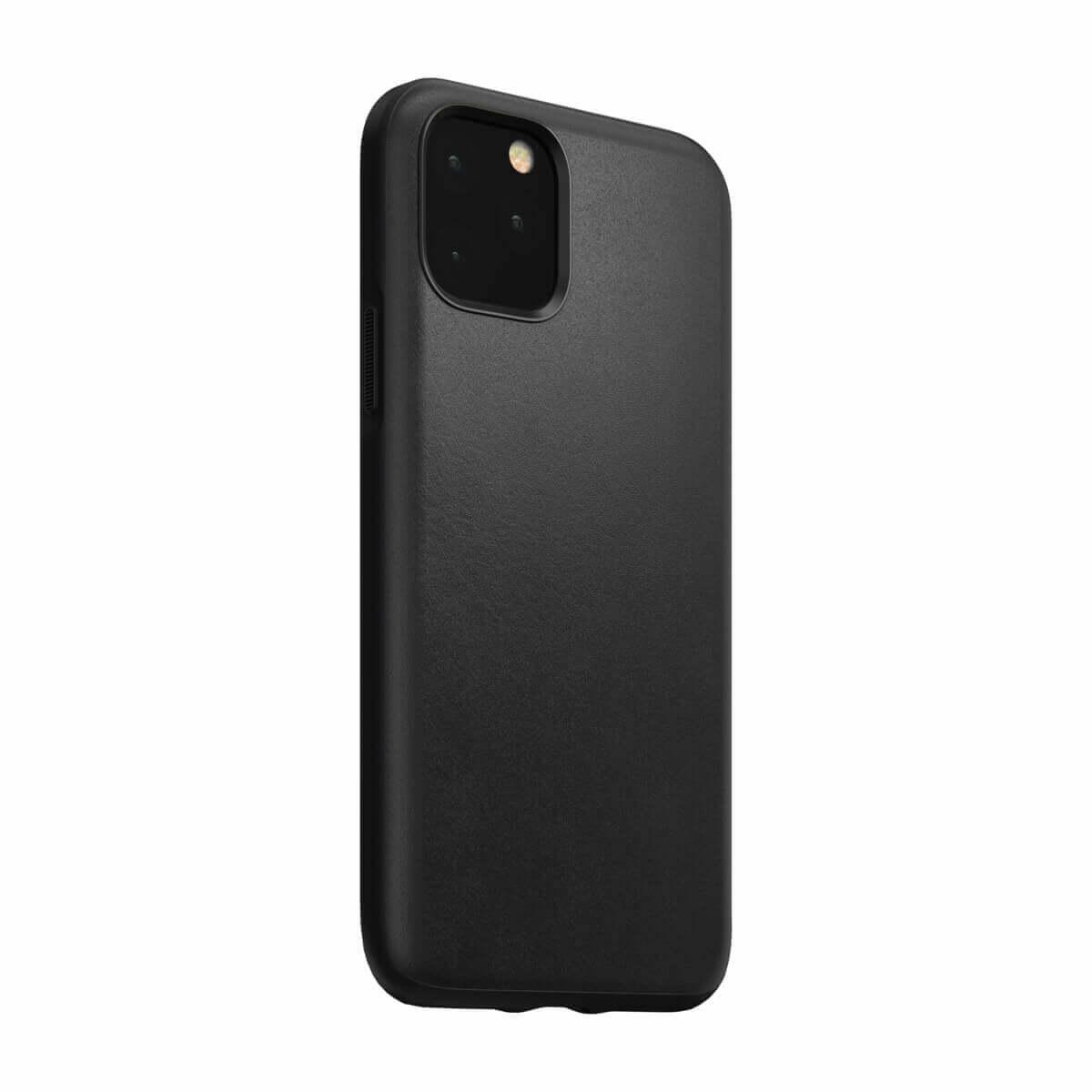 Nomad Leather Rugged Case — кожен (естествена кожа) кейс за iPhone 11 Pro (черен) - 5