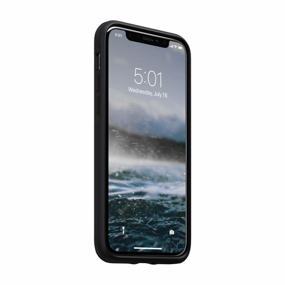 Nomad Leather Rugged Case — кожен (естествена кожа) кейс за iPhone 11 Pro (черен) - 3