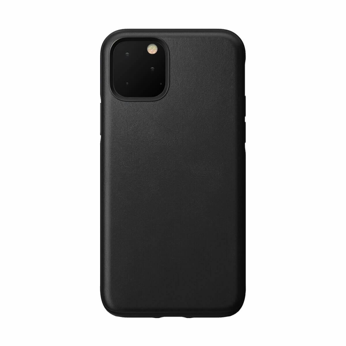 Nomad Leather Rugged Case — кожен (естествена кожа) кейс за iPhone 11 Pro (черен) - 1