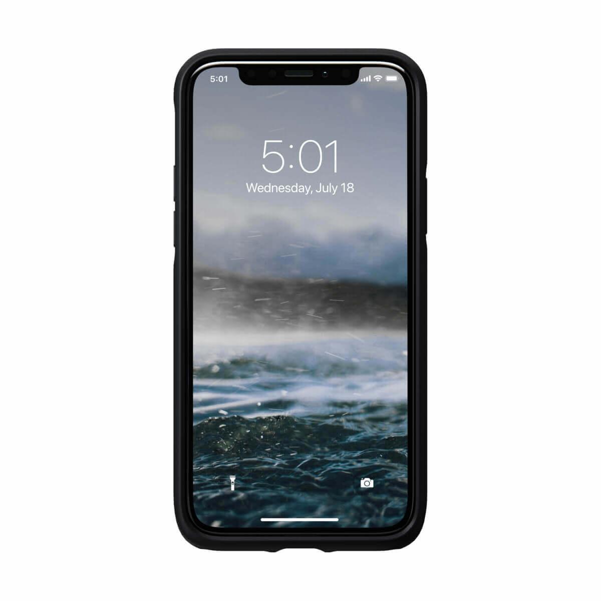 Nomad Leather Rugged Case — кожен (естествена кожа) кейс за iPhone 11 Pro (черен) - 2