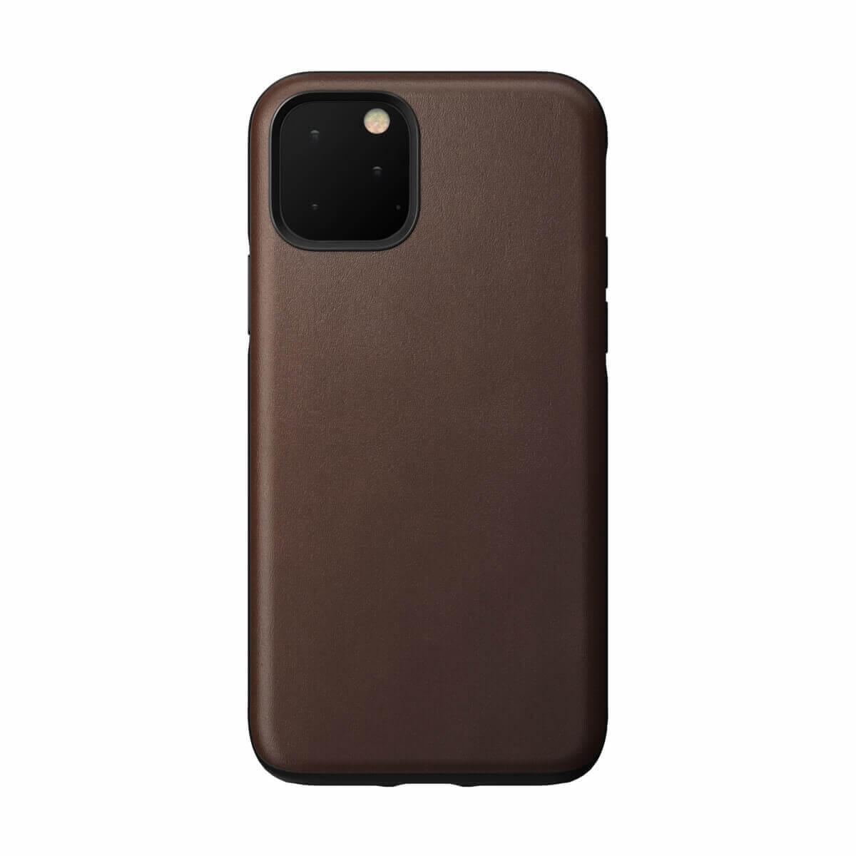 Nomad Leather Rugged Case — кожен (естествена кожа) кейс за iPhone 11 Pro (кафяв) - 1