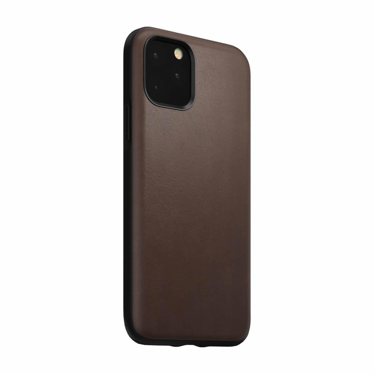 Nomad Leather Rugged Case — кожен (естествена кожа) кейс за iPhone 11 Pro (кафяв) - 3