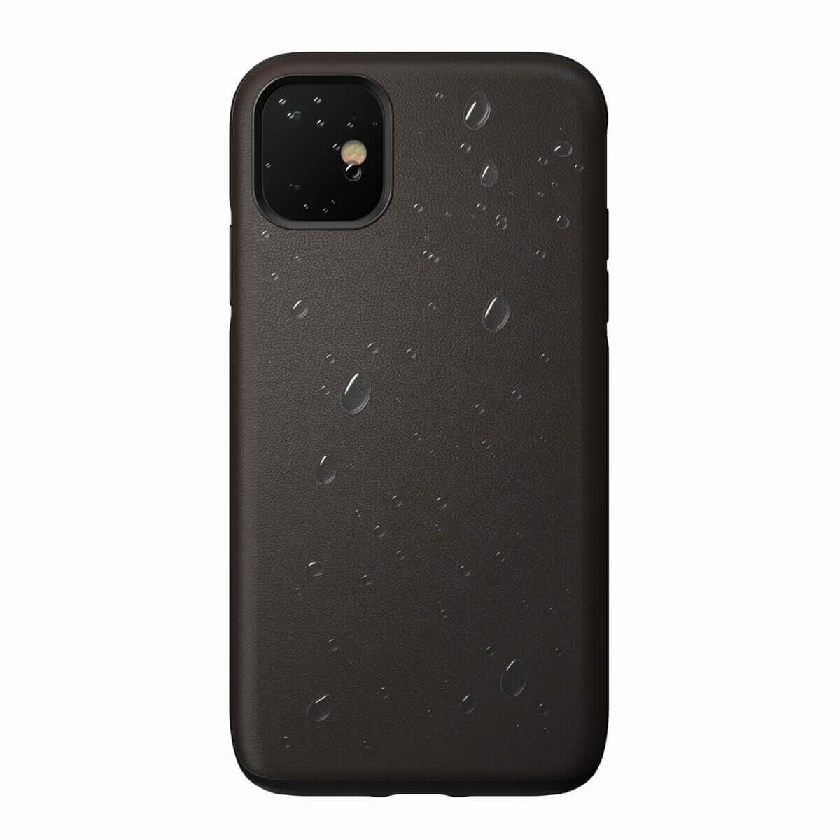 Nomad Leather Rugged Waterproof Case — кожен (естествена кожа) кейс за iPhone 11 (кафяв) - 5
