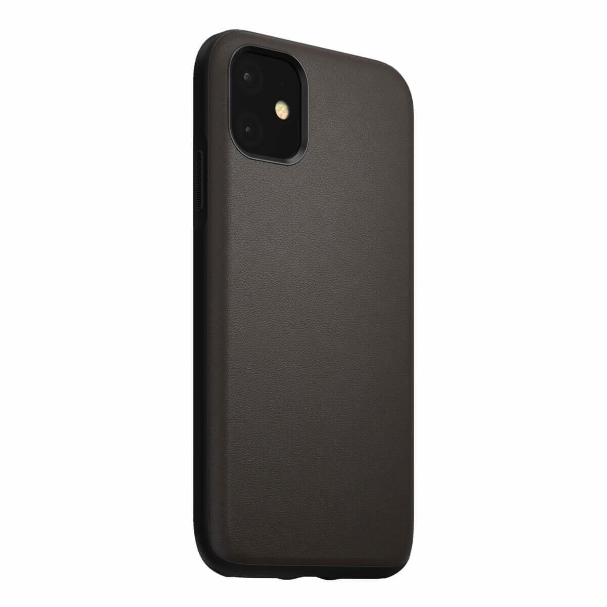 Nomad Leather Rugged Waterproof Case — кожен (естествена кожа) кейс за iPhone 11 (кафяв) - 1