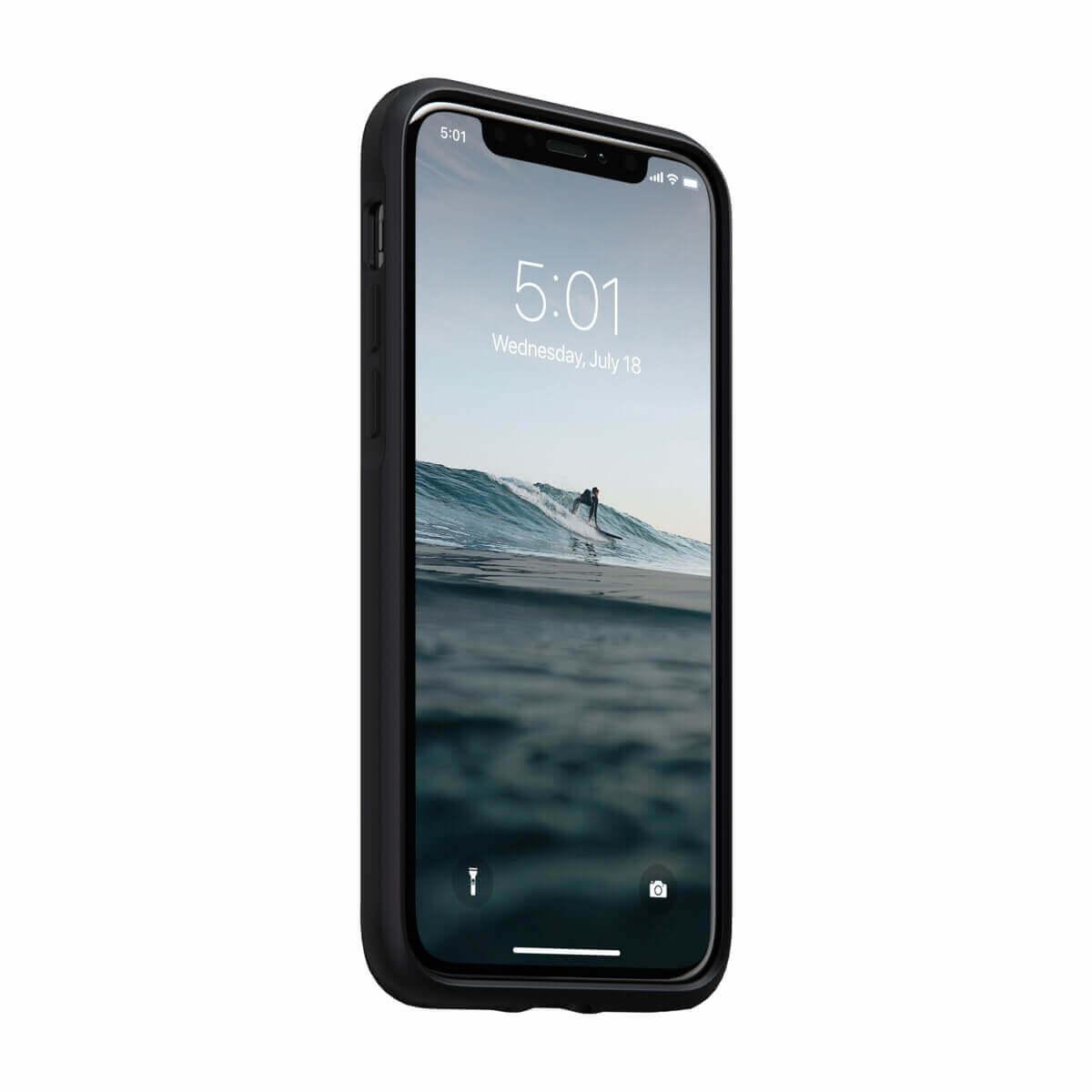 Nomad Leather Rugged Waterproof Case — кожен (естествена кожа) кейс за iPhone 11 Pro (черен) - 3