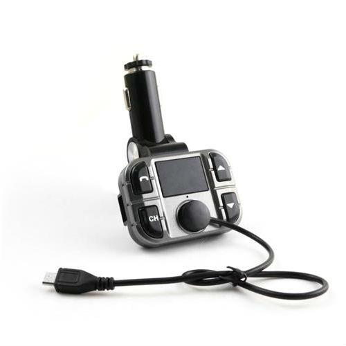 Omega Bluetooth Transmiter FM LCD USB F28 — блутут FM трансмитер за мобилни устройства (черен) - 1