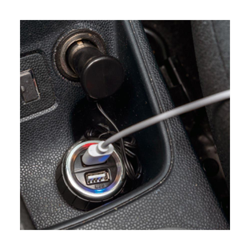Omega Car Charger 2 x USB 3.1A with Cable  — зарядно за кола със 2 x USB порта и удължителен кабел (черен) - 3