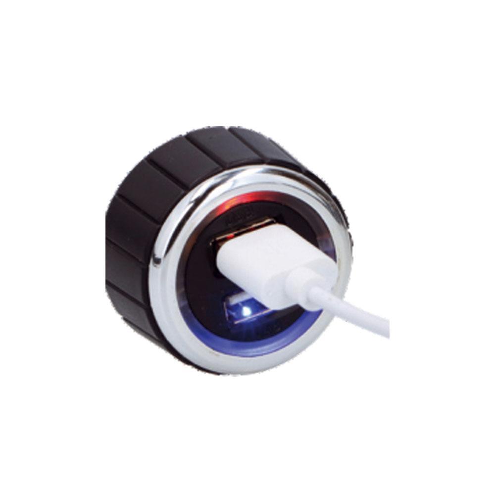 Omega Car Charger 2 x USB 3.1A with Cable  — зарядно за кола със 2 x USB порта и удължителен кабел (черен) - 2