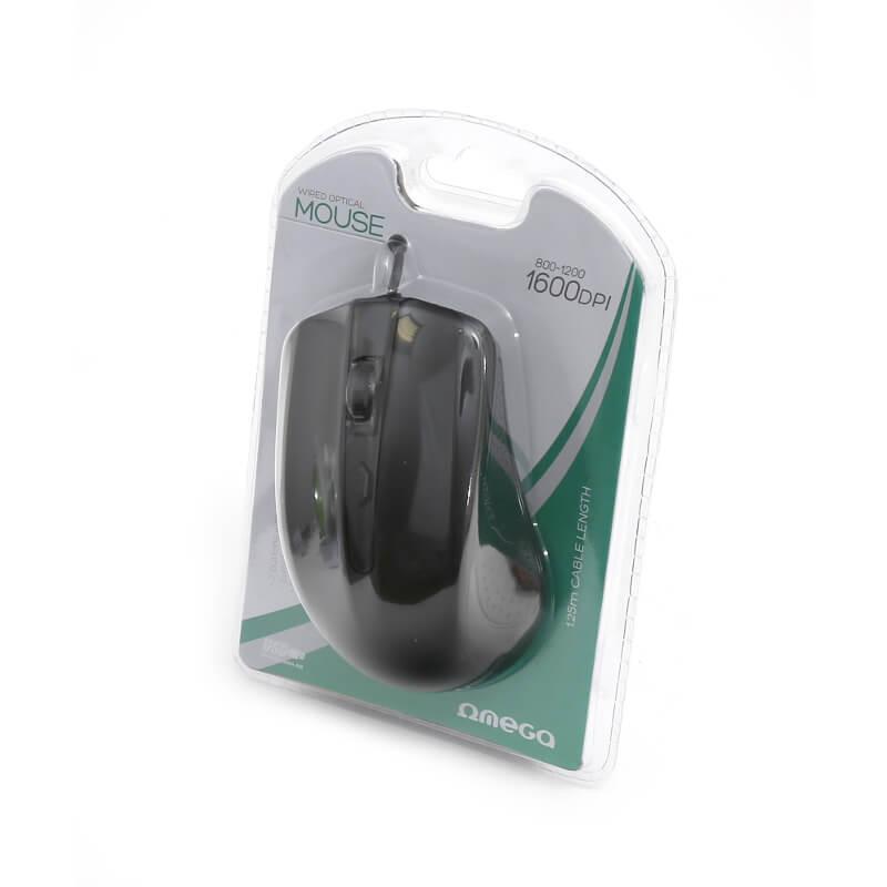 Omega OM-05 3D Optical 1000 DPI USB Mouse — USB оптична мишка за PC и Mac (черен)  - 3