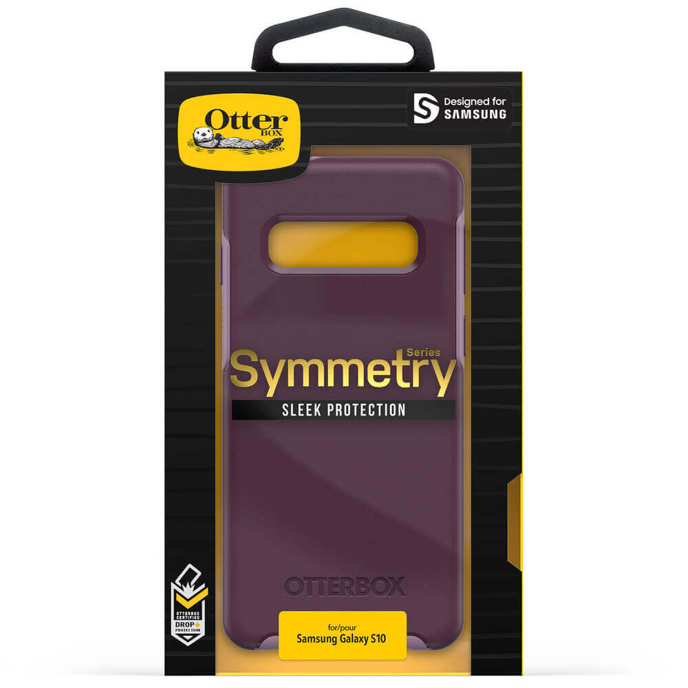 Otterbox Symmetry Series Case — хибриден кейс с висока защита за Samsung Galaxy S10 (лилав) - 5