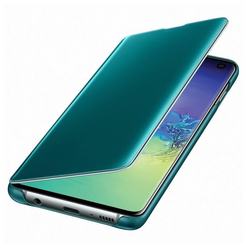 Samsung Clear View Cover EF-ZG973CG — оригинален кейс, през който виждате информация от дисплея за Samsung Galaxy S10 (зелен) - 4