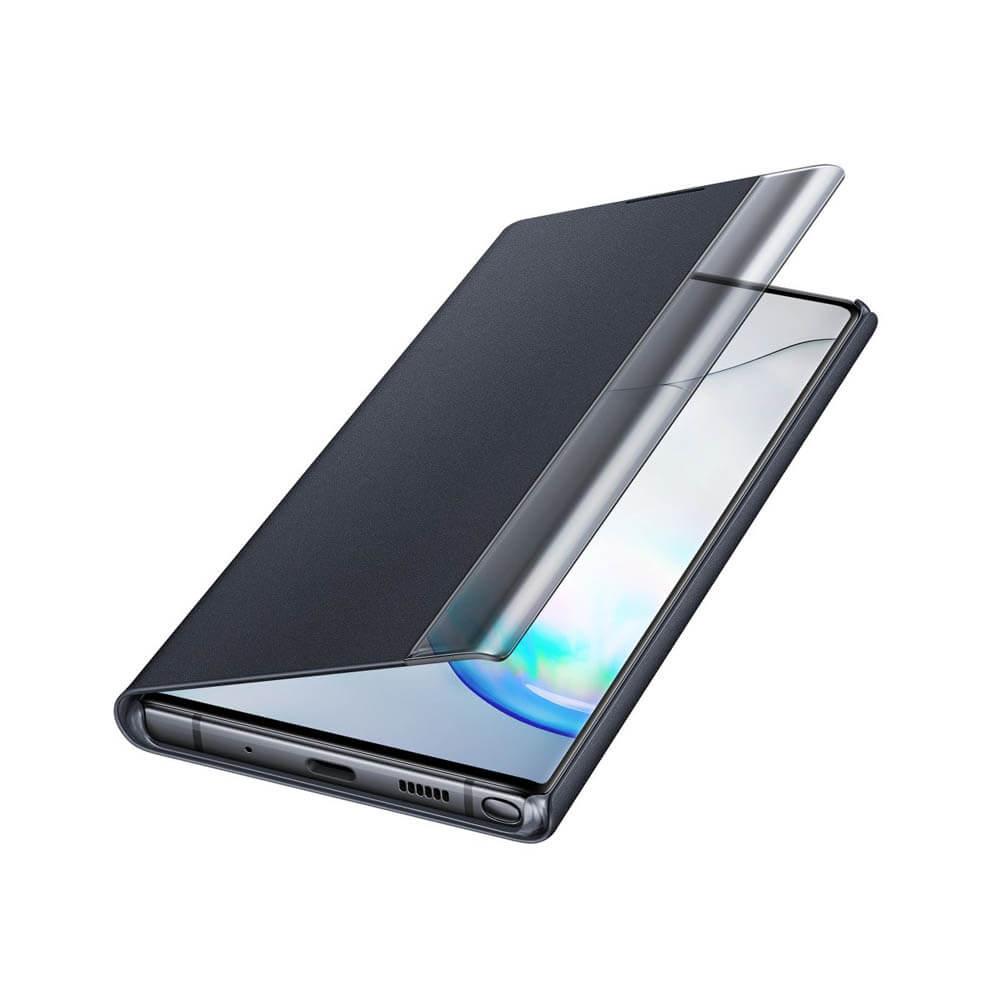 Samsung Clear View Cover EF-ZN975CB — оригинален кейс, през който виждате информация от дисплея за Samsung Galaxy Note 10 Plus (черен) - 3
