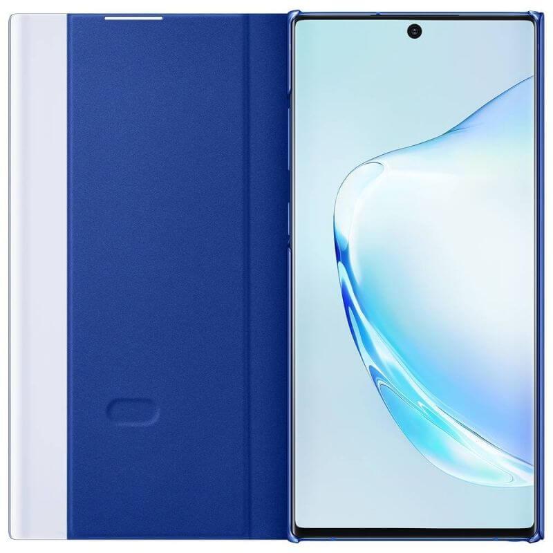Samsung Clear View Cover EF-ZN975CL — оригинален кейс, през който виждате информация от дисплея за Samsung Galaxy Note 10 Plus (син) - 3