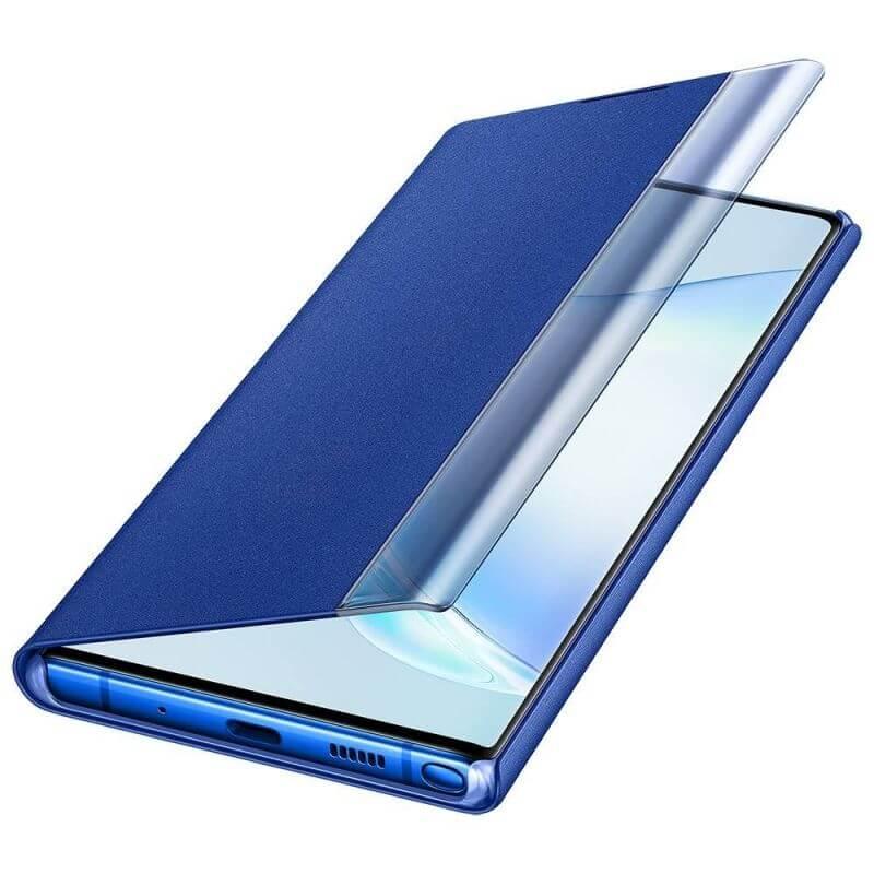 Samsung Clear View Cover EF-ZN975CL — оригинален кейс, през който виждате информация от дисплея за Samsung Galaxy Note 10 Plus (син) - 4