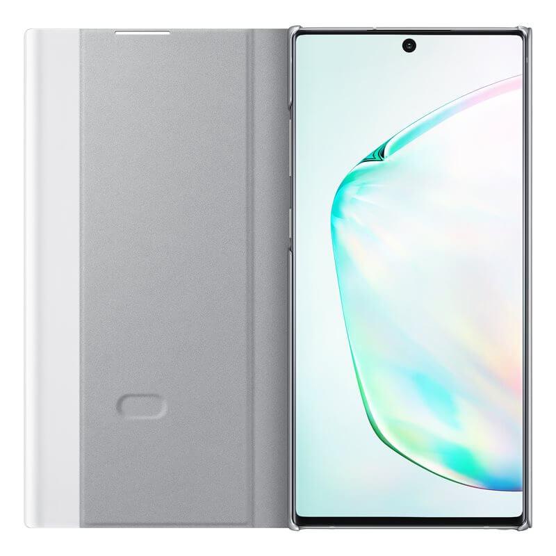 Samsung Clear View Cover EF-ZN975CS — оригинален кейс, през който виждате информация от дисплея за Samsung Galaxy Note 10 Plus (сребрист) - 2