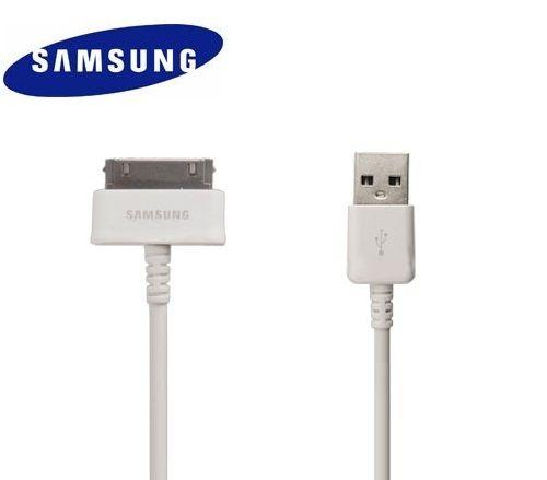 Samsung ECB-DP4AWE USB Data Cable — синхронизиращ и зареждащ кабел за Galaxy Tab 7.0 (2), 8.0, 10.1 (бял) (bulk) - 1