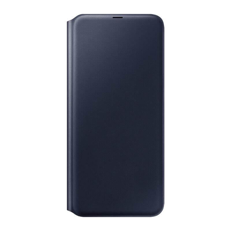 Samsung Flip Wallet Cover EF-WA705PBEGWW — оригинален кожен кейс за Samsung Galaxy A70 (черен) - 2