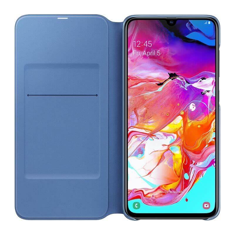 Samsung Flip Wallet Cover EF-WA705PBEGWW — оригинален кожен кейс за Samsung Galaxy A70 (черен) - 3