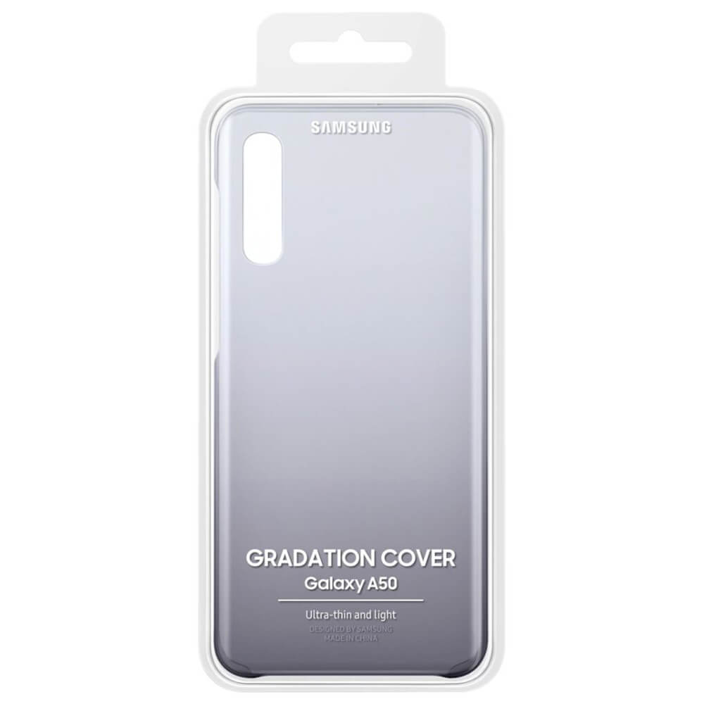 Samsung Gradation Cover EF-AA505CBEGWW — оригинален поликарбонатов кейс за Samsung Galaxy A50 (черен) - 4