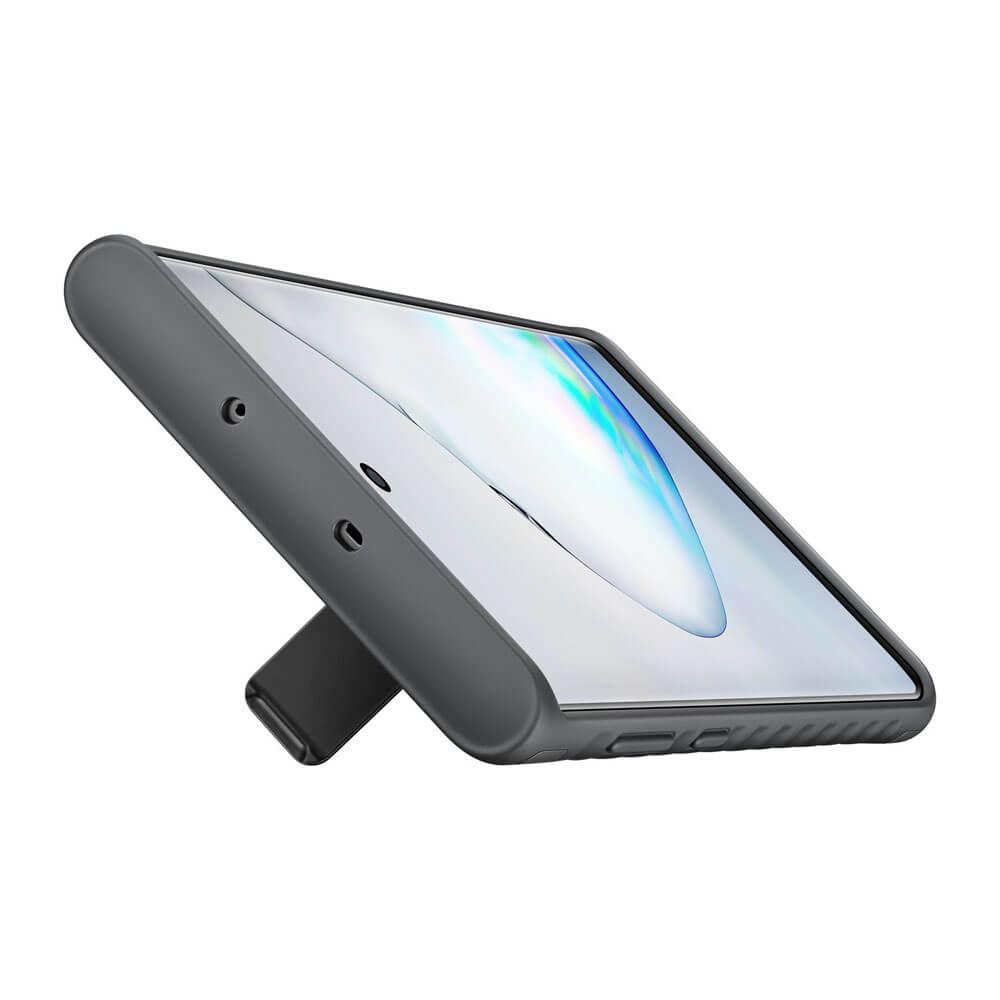Samsung Protective Standing Cover EF-RN970CB — оригинален хибриден кейс за Samsung Note 10 (черен) - 4