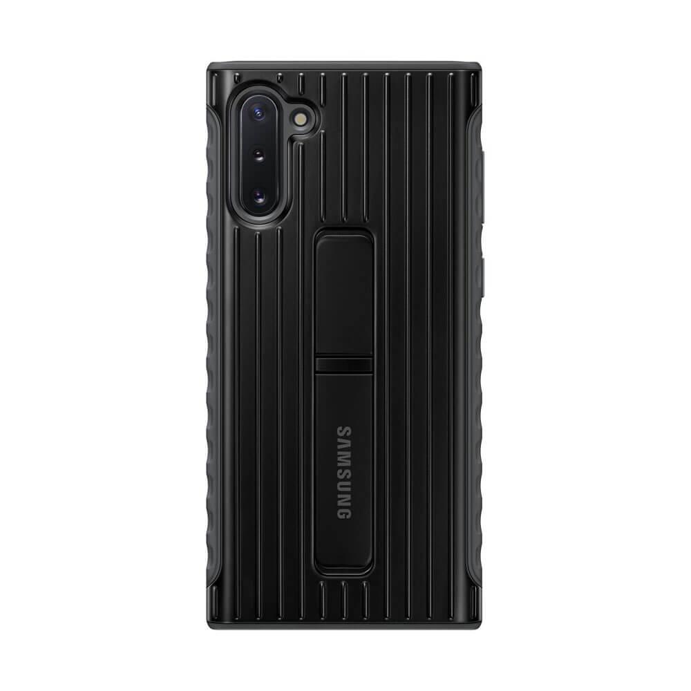 Samsung Protective Standing Cover EF-RN970CB — оригинален хибриден кейс за Samsung Note 10 (черен) - 1