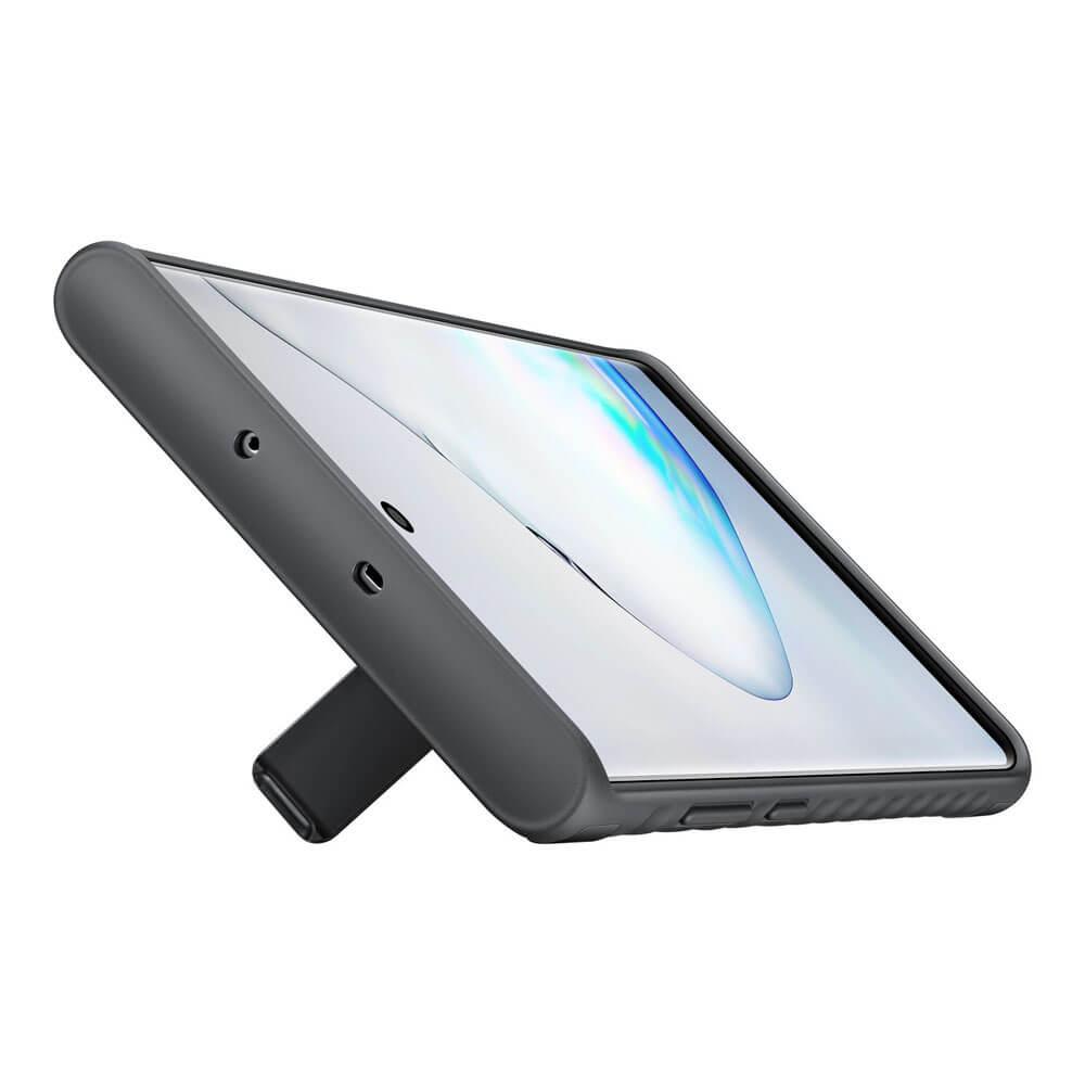 Samsung Protective Standing Cover EF-RN975CB — оригинален хибриден кейс за Samsung Note 10 Plus (черен) - 4