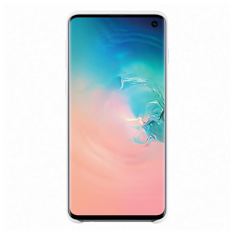 Samsung Silicone Cover Case EF-PG973TW — оригинален силиконов кейс за Samsung Galaxy S10 (бял) - 4