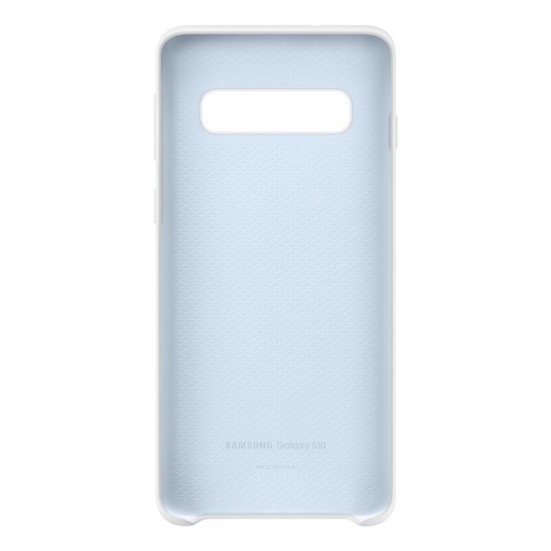 Samsung Silicone Cover Case EF-PG973TW — оригинален силиконов кейс за Samsung Galaxy S10 (бял) - 3