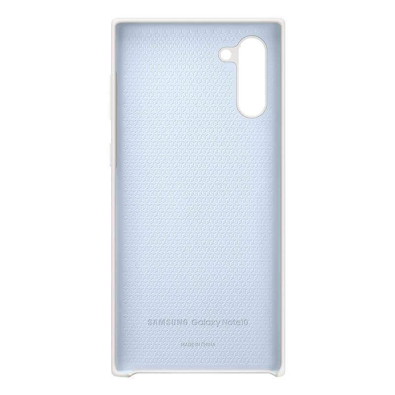 Samsung Silicone Cover Case EF-PN970TW — оригинален силиконов кейс за Samsung Galaxy Note 10 (бял) - 4