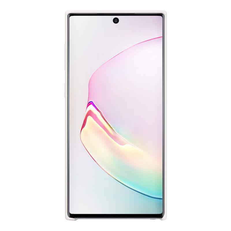 Samsung Silicone Cover Case EF-PN970TW — оригинален силиконов кейс за Samsung Galaxy Note 10 (бял) - 2