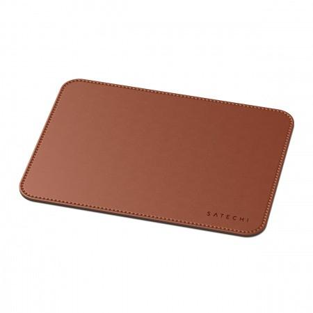 Satechi Eco-Leather Mouse Pad - дизайнерски кожен пад за мишка (тъмнокафяв) - 2