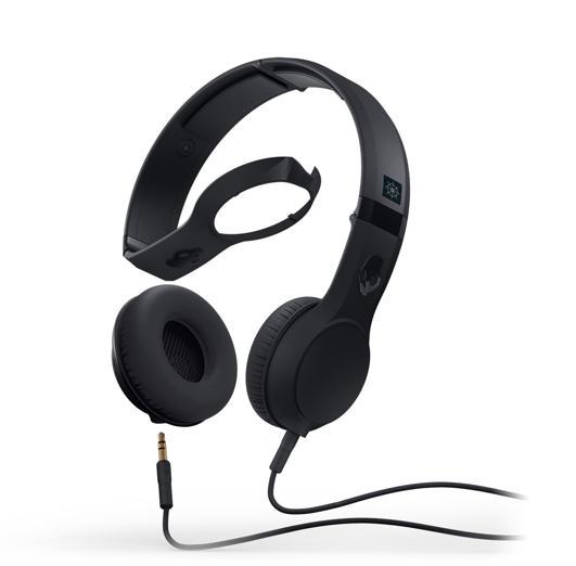 SkullCandy Cassette — слушалки с микрофон и спийкър за iPhone и мобилни устройства (черни) - 1