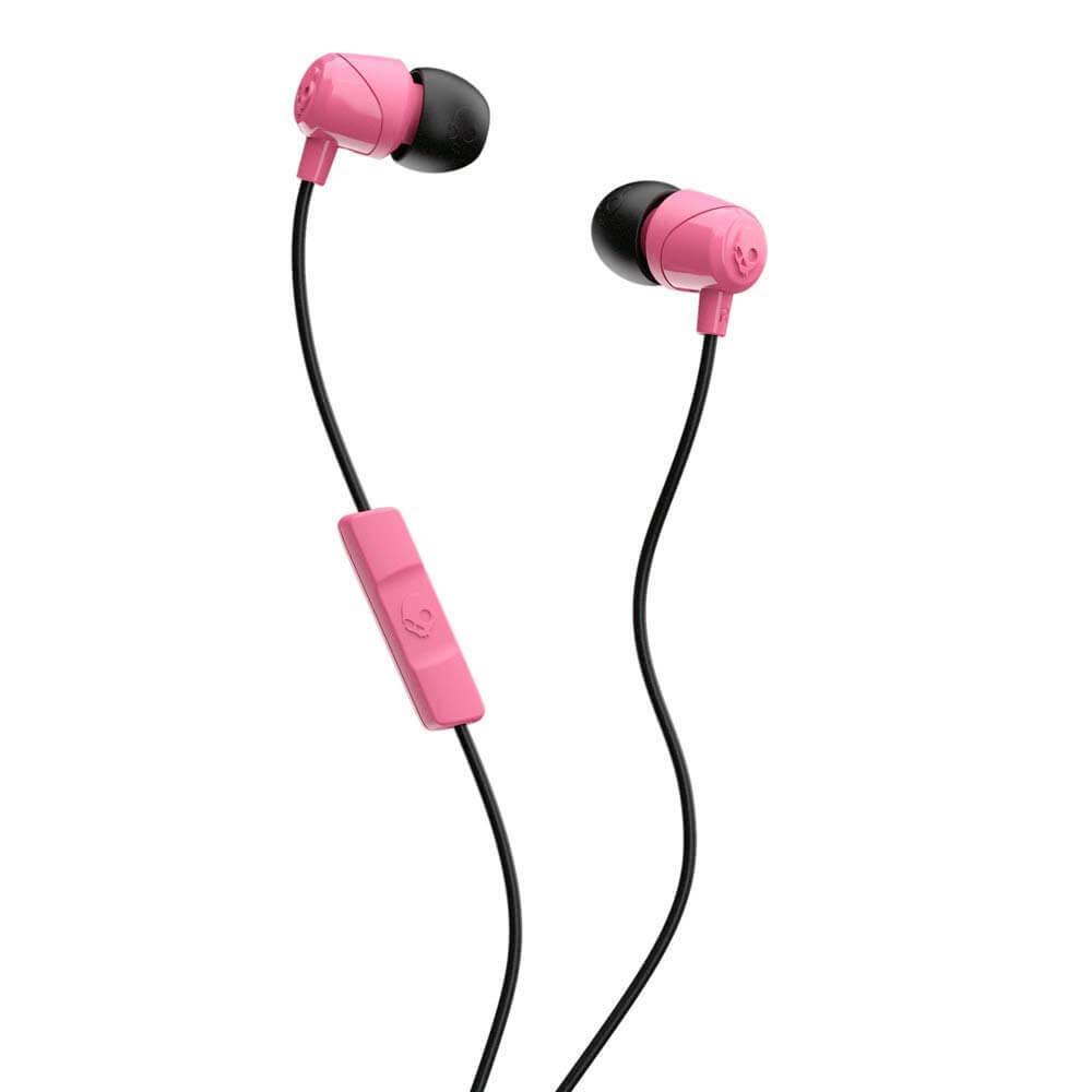 Skullcandy JIB Microphone — слушалки с микрофон за iPhone и мобилни телефони (розов) - 1