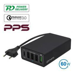 4smarts Mains Charging Station VoltPlug PPS Power Delivery & QC3.0 60W