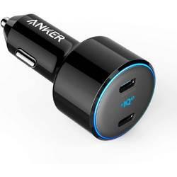Anker PowerDrive+ III Duo 48W 2-Port PIQ 3.0 Fast Charger Adapter with Power Delivery - зарядно за кола с два USB-C изхода и технология за бързо зареждане (черен)