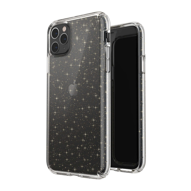 Speck Presidio Glitter Clear Case — удароустойчив хибриден кейс за iPhone 11 Pro Max (прозрачен) - 4