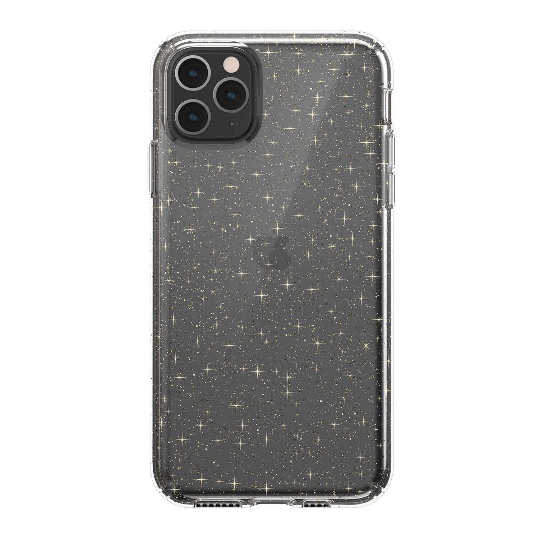 Speck Presidio Glitter Clear Case — удароустойчив хибриден кейс за iPhone 11 Pro Max (прозрачен) - 1