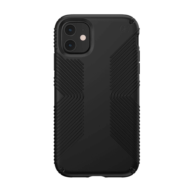 Speck Presidio Grip Case — удароустойчив хибриден кейс за iPhone 11 (черен) - 1