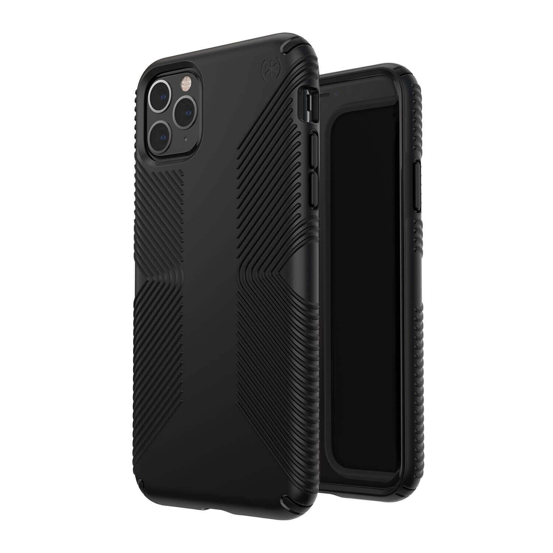 Speck Presidio Grip Case — удароустойчив хибриден кейс за iPhone 11 Pro Max (черен) - 2