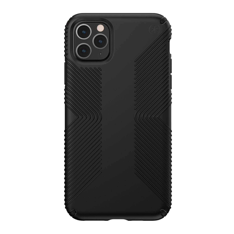 Speck Presidio Grip Case — удароустойчив хибриден кейс за iPhone 11 Pro Max (черен) - 1