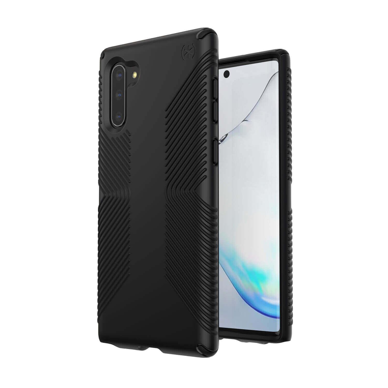 Speck Presidio Grip Case — удароустойчив хибриден кейс за Samsung Galaxy Note 10 (черен) - 2