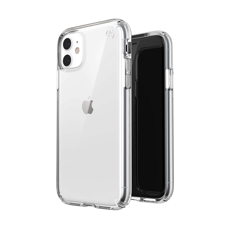Speck Presidio Stay Clear Case — удароустойчив хибриден кейс за iPhone 11 (прозрачен) - 2