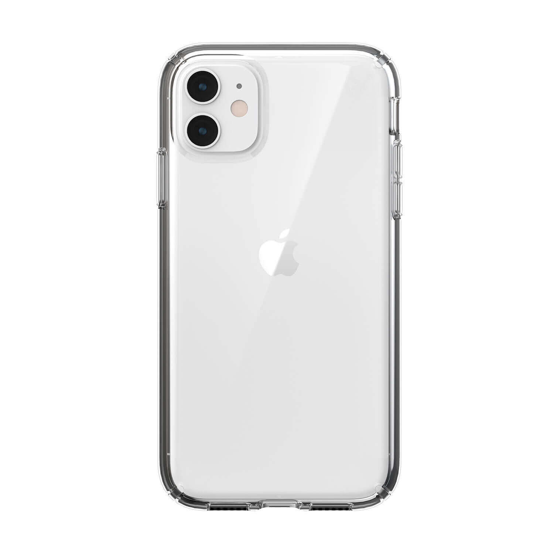 Speck Presidio Stay Clear Case — удароустойчив хибриден кейс за iPhone 11 (прозрачен) - 1