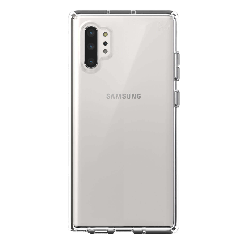 Speck Presidio Stay Clear Case — удароустойчив хибриден кейс за Samsung Galaxy Note 10 Plus (прозрачен) - 1