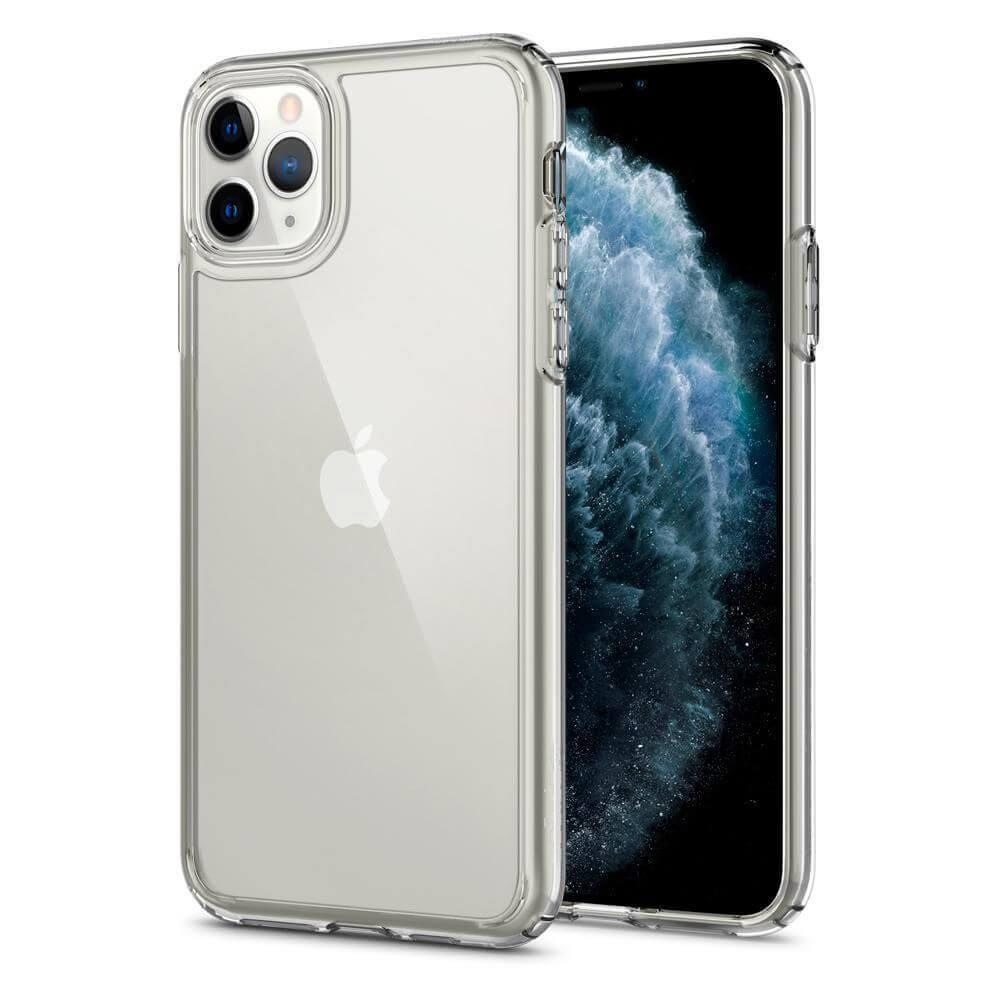 Spigen Crystal Hybrid Case — хибриден кейс с висока степен на защита за iPhone 11 Pro (прозрачен) - 1