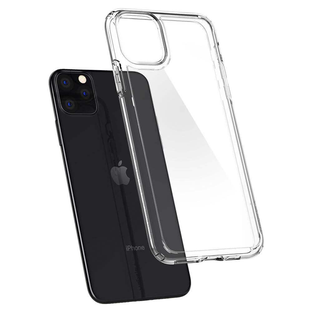 Spigen Crystal Hybrid Case — хибриден кейс с висока степен на защита за iPhone 11 Pro (прозрачен) - 3