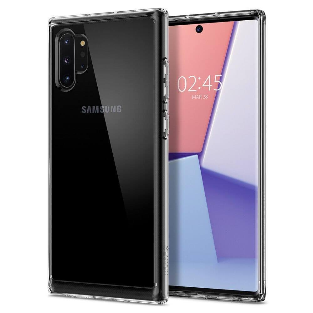 Spigen Crystal Hybrid Case — хибриден кейс с висока степен на защита за Samsung Galaxy Note 10 Plus (прозрачен) - 1