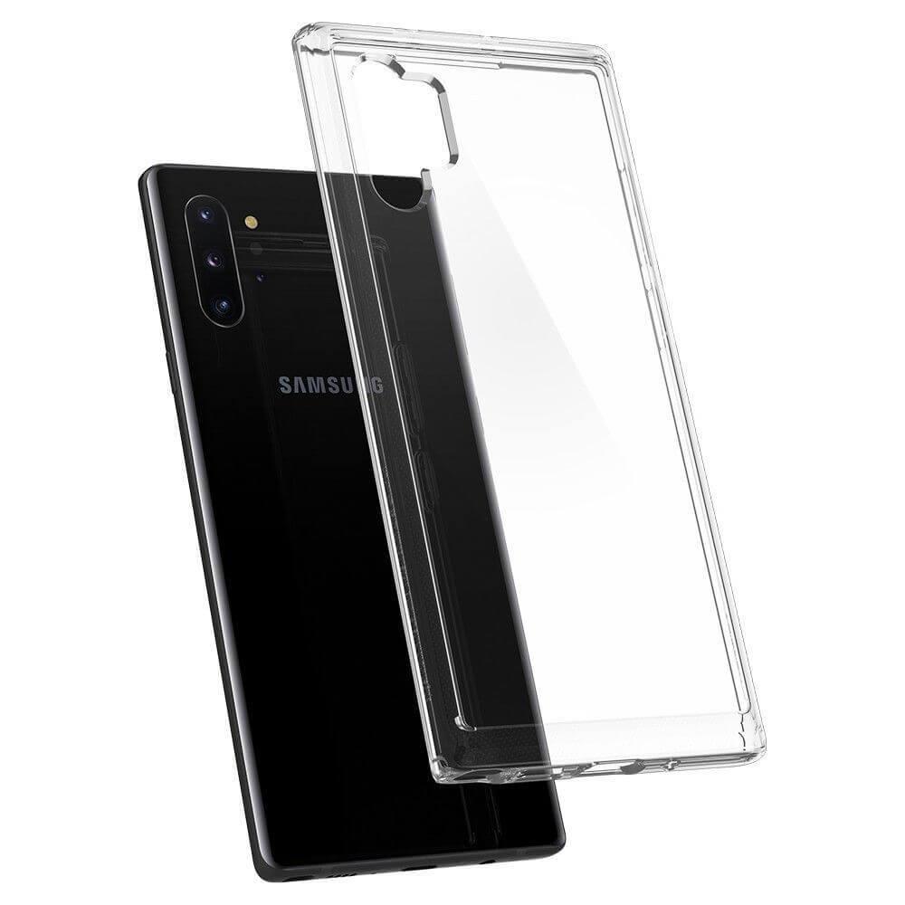 Spigen Crystal Hybrid Case — хибриден кейс с висока степен на защита за Samsung Galaxy Note 10 Plus (прозрачен) - 4